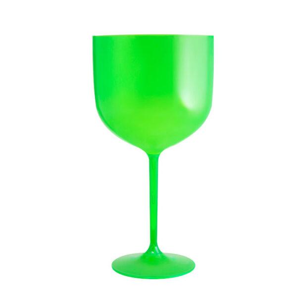taça de gin leitoso verde