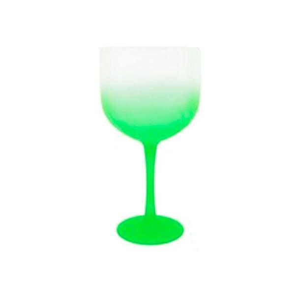 taça de gin degrade verde