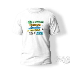 Camiseta papai espelho proteção benção