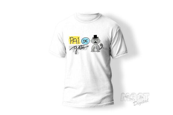 camiseta pai de gato