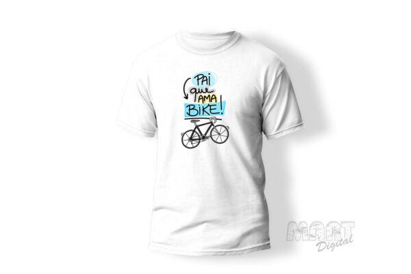 camiseta pai que ama bicicleta