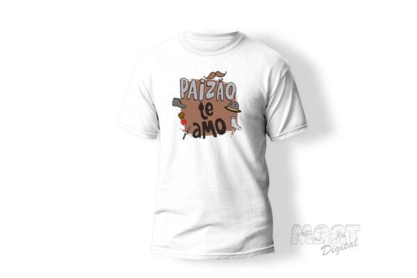camiseta paizão te amo
